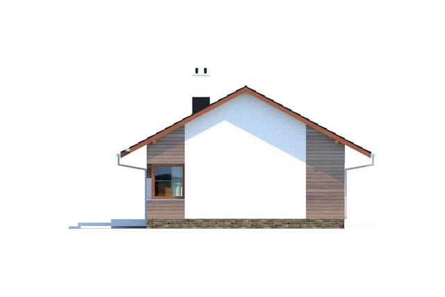 Zobacz powiększenie elewacji bocznej prawej - projekt Royan IV