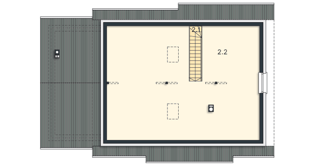 Rzut kondygnacji Strych - projekt Royan VI