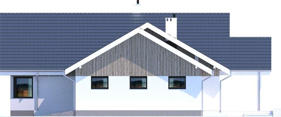 Elewacja boczna prawa - projekt Noordwijk