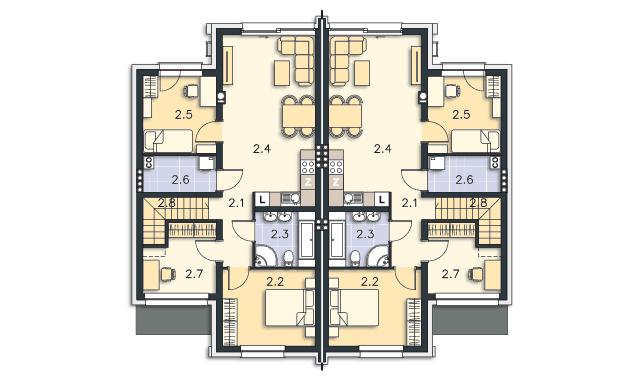 Rzut kondygnacji Piętro - projekt Springfield III