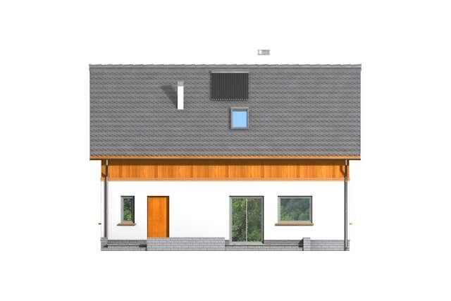 Zobacz powiększenie elewacji ogrodowej - projekt Genua