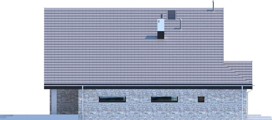 Elewacja boczna lewa - projekt Lagos III