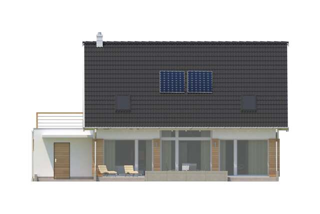 Zobacz powiększenie elewacji ogrodowej - projekt Montreal IV