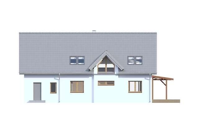 Zobacz powiększenie elewacji ogrodowej - projekt Tokio VII