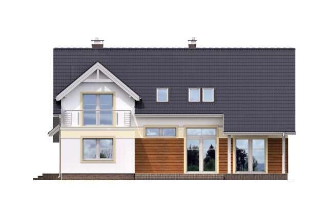 Zobacz powiększenie elewacji ogrodowej - projekt Heidelberg II