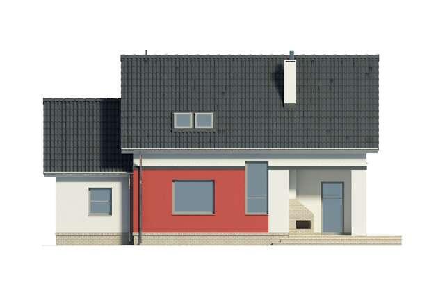Zobacz powiększenie elewacji ogrodowej - projekt Cottbus