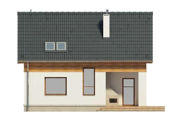 Zobacz powiększenie elewacji ogrodowej - projekt Cottbus II