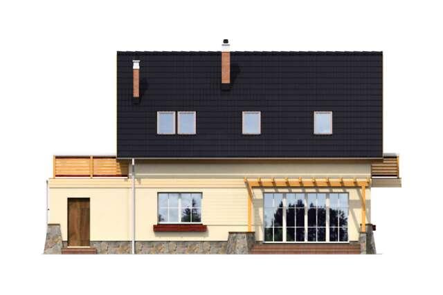 Zobacz powiększenie elewacji ogrodowej - projekt Tacoma II