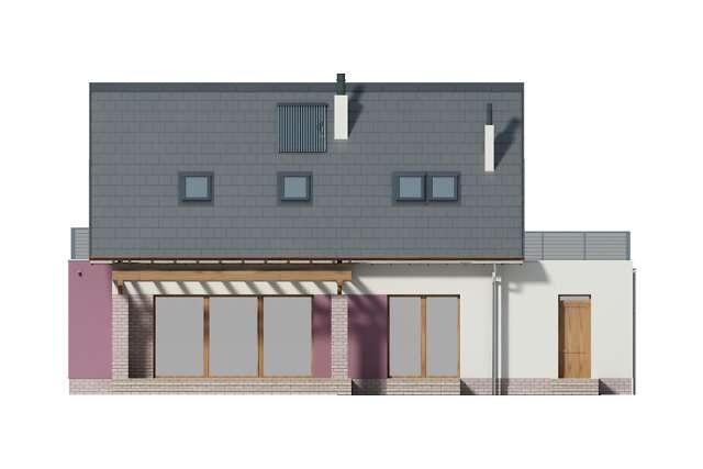 Zobacz powiększenie elewacji ogrodowej - projekt Faro