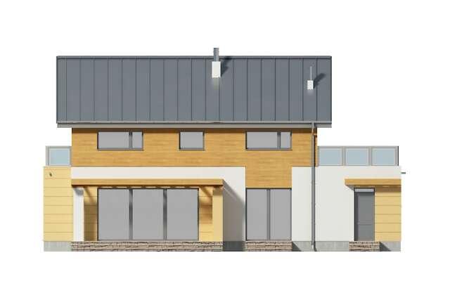 Zobacz powiększenie elewacji ogrodowej - projekt Nikko