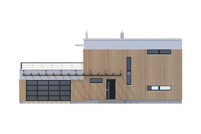 Zobacz powiększenie elewacji frontowej - projekt Belfast VI