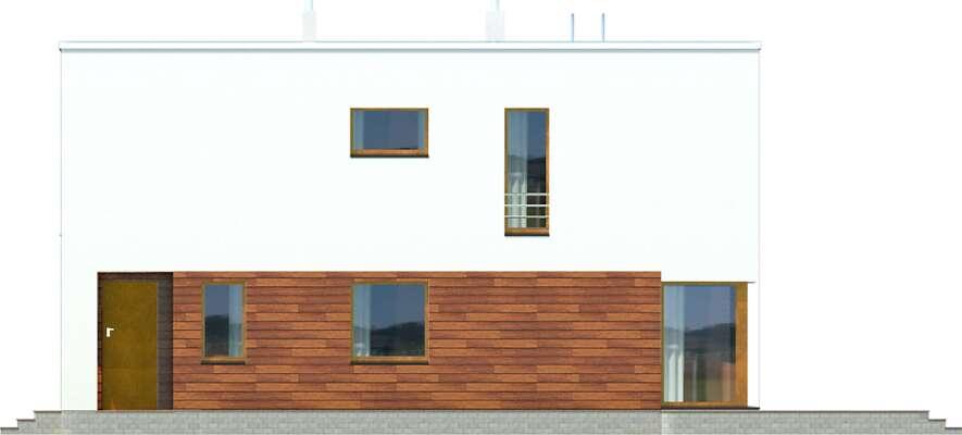 Elewacja boczna prawa - projekt Tottori