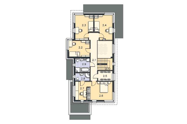 Zobacz powiększenie rzutu kondygnacji Piętro - projekt Imperia III