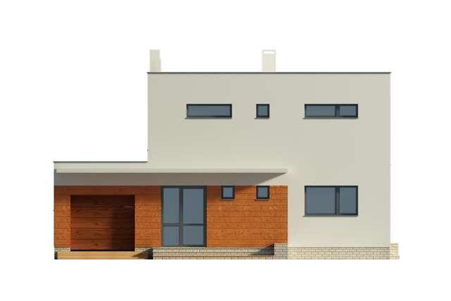 Zobacz powiększenie elewacji frontowej - projekt Edynburg II