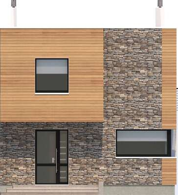 Elewacja frontowa - projekt Delft