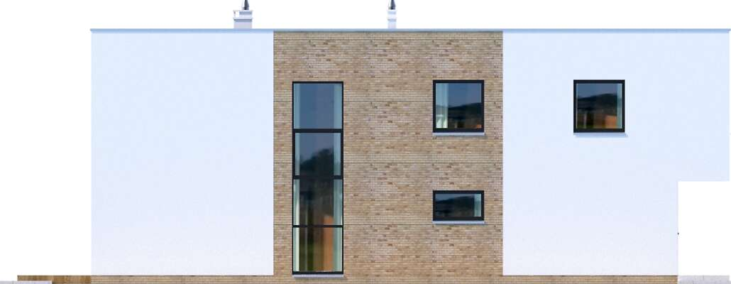 Elewacja boczna lewa - projekt Delft III