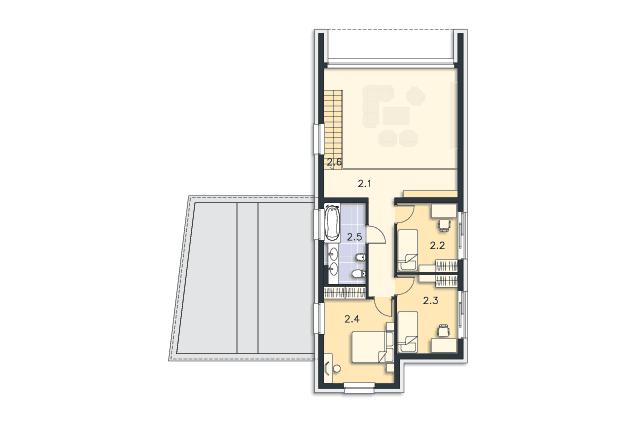 Zobacz powiększenie rzutu kondygnacji Piętro - projekt Delft IV
