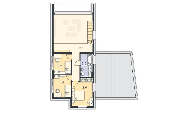 Rzut kondygnacji Piętro - projekt Delft IV