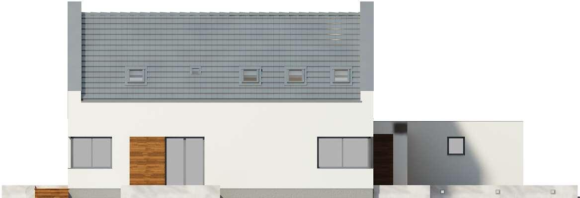 Elewacja boczna lewa - projekt Garda II