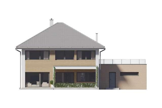 Zobacz powiększenie elewacji ogrodowej - projekt Carrara III