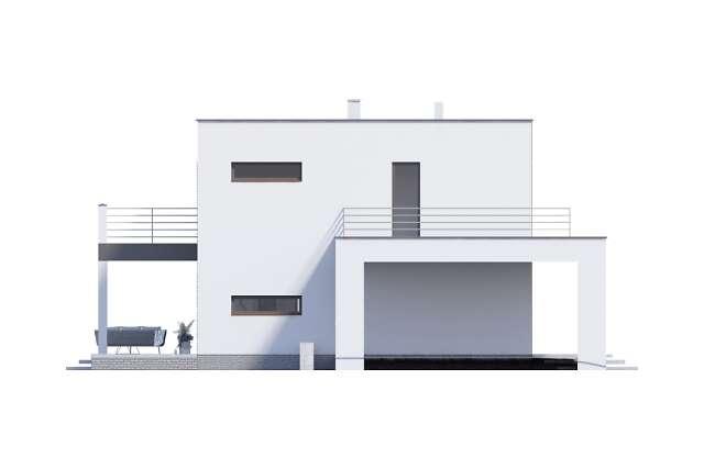 Zobacz powiększenie elewacji bocznej lewej - projekt Carrara V