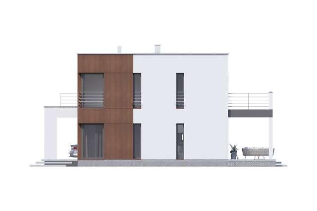 Zobacz powiększenie elewacji bocznej prawej - projekt Carrara V