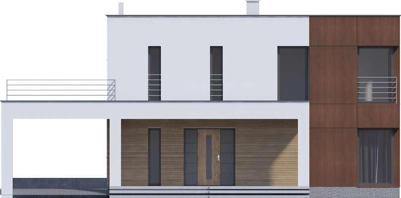 Elewacja frontowa - projekt Carrara V