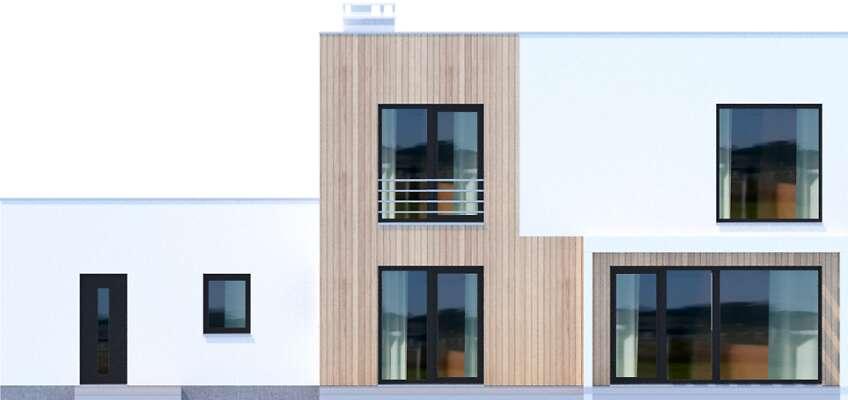 Elewacja ogrodowa - projekt Grenoble