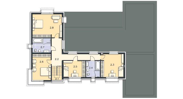 Rzut kondygnacji Piętro - projekt Annecy