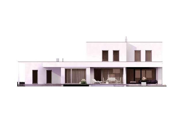 Zobacz powiększenie elewacji ogrodowej - projekt Tarrafal