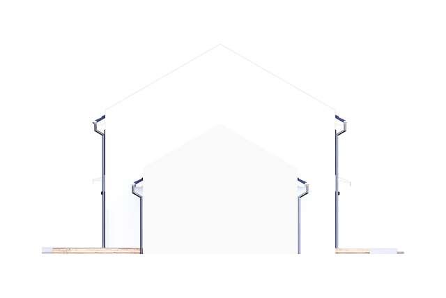 Zobacz powiększenie elewacji bocznej prawej - projekt Skagen