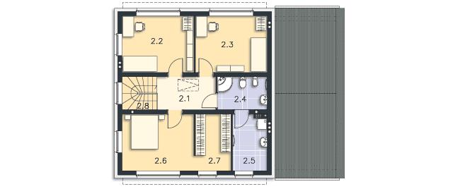 Rzut kondygnacji Piętro - projekt Skagen II