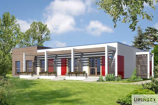 Zobacz powiększenie wizualizacji ogrodowej - projekt Budynek agroturystyczny Jesion