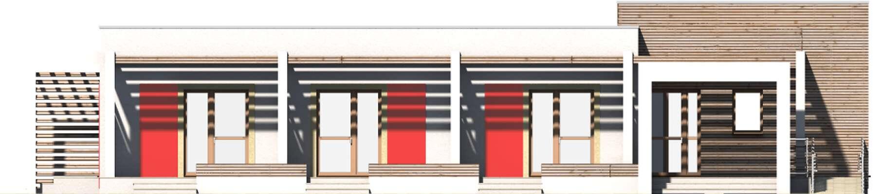 Elewacja frontowa - projekt Budynek agroturystyczny Jesion