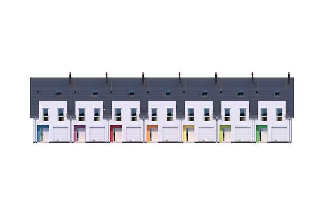 Zobacz powiększenie elewacji frontowej - projekt Edmonton