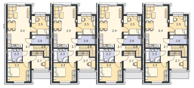 Rzut kondygnacji Piętro - projekt Springfield II