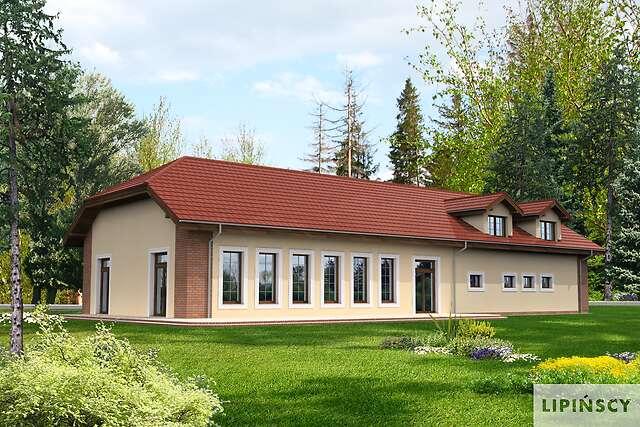 Zobacz powiększenie wizualizacji ogrodowej - projekt Budynek usługowy Puchacz