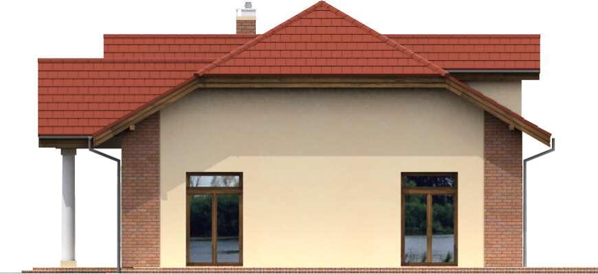 Elewacja boczna prawa - projekt Budynek usługowy Puchacz