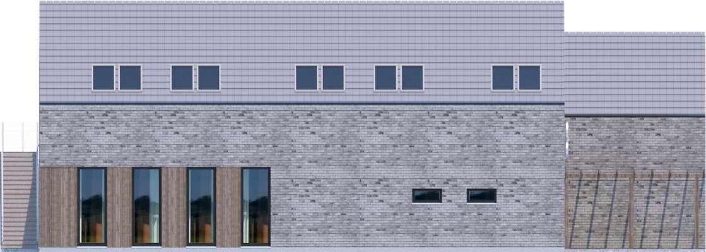 Elewacja boczna lewa - projekt Budynek usługowy Jastrząb