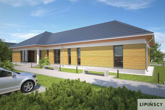 Zobacz powiększenie wizualizacji frontowej - projekt Budynek usługowy Office 1