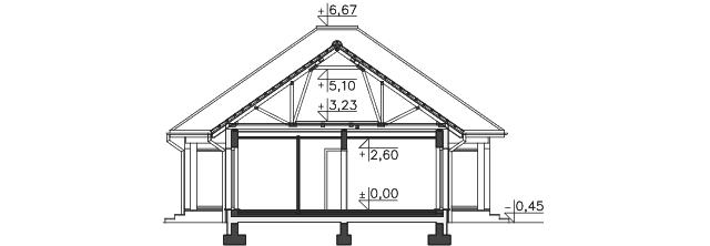 Przekrój - projekt Budynek usługowy Office 1