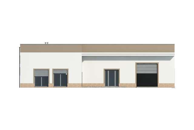 Zobacz powiększenie elewacji frontowej - projekt Budynek usługowy