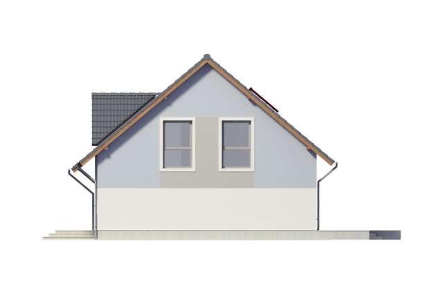 Zobacz powiększenie elewacji bocznej prawej - projekt Lipińscy Dom Pasywny 2