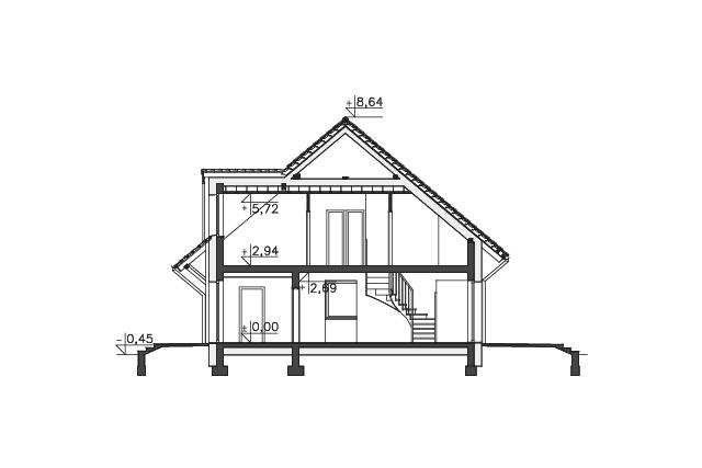 Zobacz powiększenie przekroju - projekt Lipińscy Dom Pasywny 2