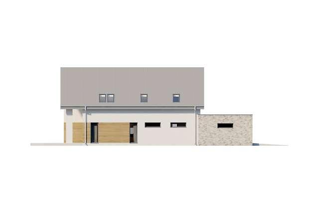 Zobacz powiększenie elewacji ogrodowej - projekt Sligo Pasywny 9
