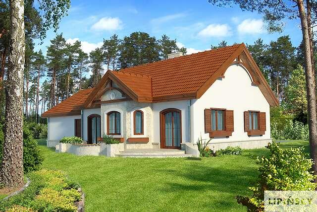 Zobacz powiększenie wizualizacji ogrodowej - projekt Sofia VI