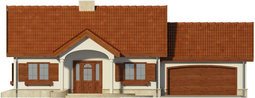 Elewacja frontowa - projekt Sofia VI