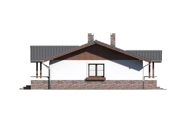 Zobacz powiększenie elewacji bocznej lewej - projekt Aspen
