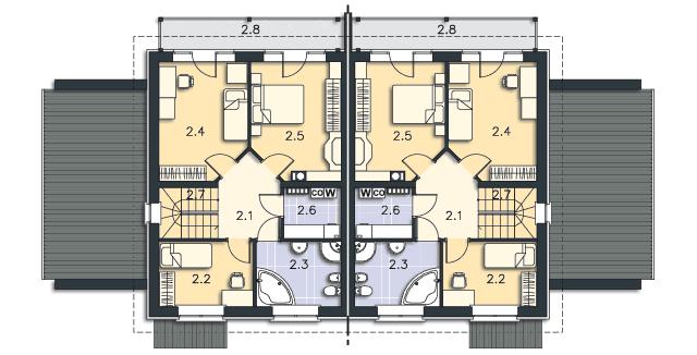 Rzut kondygnacji Piętro - projekt Richmond