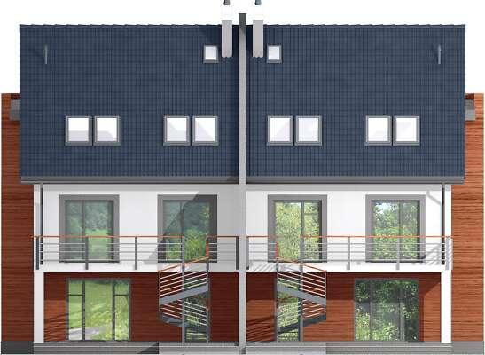 Elewacja ogrodowa - projekt Przez ścianę